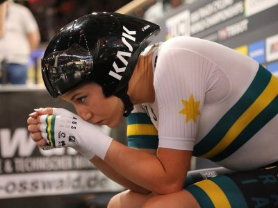 Maeve Plouffe at the Berlin 2020 Track World Championships